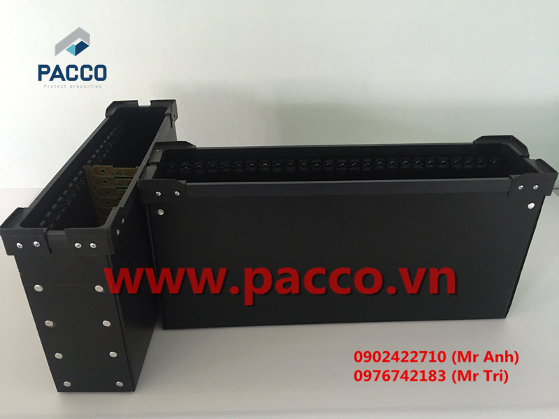 Thùng nhựa danpla linh kiện điện tử Pacco PP41 -03
